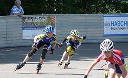 Alexandre (links) und Jesko (Mitte) im Kampf um Platz zwei