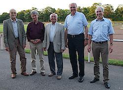 v.l.: Gerhard Apitzsch, Hermann-Josef Maassen, Konrad Hamraths, Franz-Josef Kallen, Hermann-Josef Tombrink