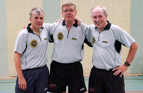 Ü60 v.l.: Volker Herbst, Albert Paessens, Hermann-Josef Tombrink