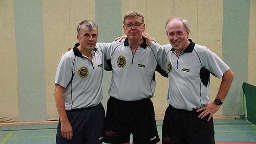Ü60-Team: Volker Herbst, Albert Paessens, Hermann-Josef Tombrink (Jochen Kusch und Martin Wallenfels fehlen auf dem Bild)