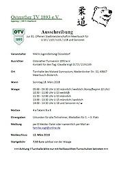 18.03.18: offene Stadtmeisterschaften für U10, U13, U15, U18 und Senioren in Meerbusch