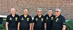 Das Abnahme-Team: v.l.: Willi Meurer, Hans-Joachim Jakob, Werner Wilke, Heinz Coun, Manfred Stranz