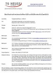 01.02.20: BEM U15 und U18 in Neuss