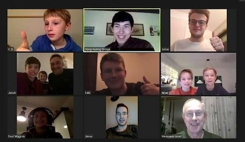 Sonkys Videokonferenz hat allen Spaß gemacht!