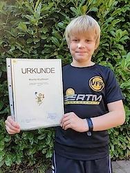 Der 10 Jahre alte Moritz Kluitman legte im Rahmen der Mitmach-Aktion