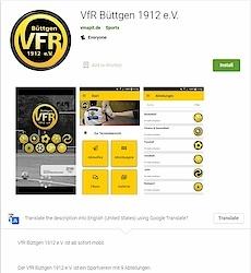 Info im Google Play Store