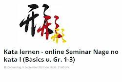 09.09.21: Kata lernen - Online Seminar Nage No Kata I