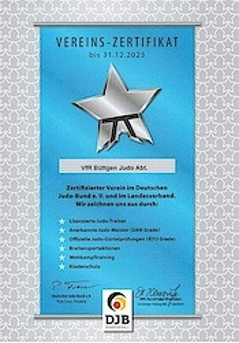 DJB-Vereinszertifikat 2020-2023 (Details unter Aktuelles)