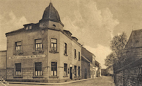 Erstes Vereinslokal: Gaststätte Willi Müller - später Peter Laumen - in den 1920er Jahren