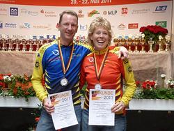 Silke Röhr und Andreas Lichtenstein - beide mit Silber bei den deutschen Meisterschaften im Halbmarathon in Kassel