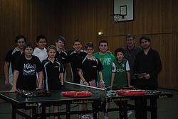 Alle Teilnehmer mit den Trainern Albert Päßens und Christian Camrath in freudiger Erwartung