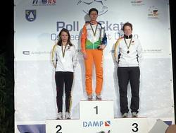 Siegerehrung AK35 bei der WM in Damp von links nach rechts : Karina Windorf (Silber), Karen Teuling (Gold), Silke Röhr (Bronze)