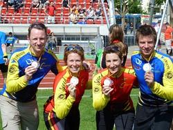 4 Starter - 4 Medaillen: v.l. Andreas Lichtenstein / Silke Röhr / Silke Zimmermann / Lars ter Veer