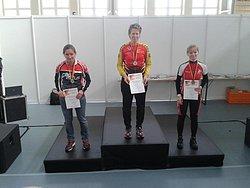 Silke Röhr nach ihrem Sieg bei der Halbmarathon DM 2013 (Foto: Silke Röhr privat)