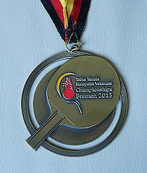 Die Medaille aus der Nähe